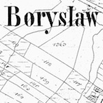 Borysław Town Cadastral Map (unknown date)
