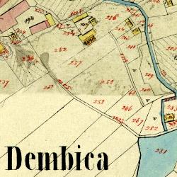 debica town cadastral map 1849 1852