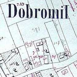 Dobromil Town Cadastral Map 1852
