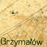 Grzymałów Center Cadastral Map undated ca. 1900