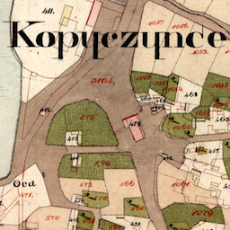 Kopyczyńce Center Cadastral Map 1828
