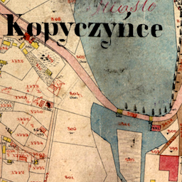 Kopyczyńce Center Cadastral Map (undated ca. 1859)