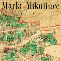 Mikulińce Market Cadastral Map 1861