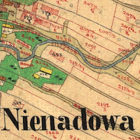 Nienadowa Town Cadastral Map 1852 (2nd Revision)