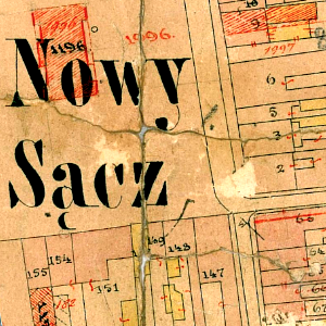 Nowy Sącz Center Cadastral Map 1878