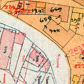 Nowy Sącz Center Cadastral Map 1878/1899