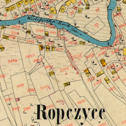 Ropczyce Town Cadastral Map 1849/1852