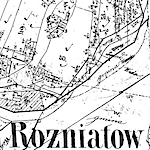 Rożniatów Center Cadastral Map 1851