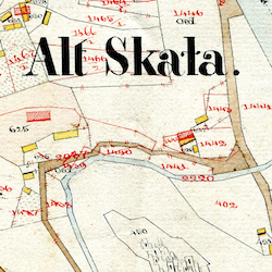 Skała Center Cadastral Map 1859