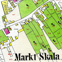 Skała Center Cadastral Map 1827/1862