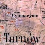 Tarnów Center-South Cadastral Map 1927