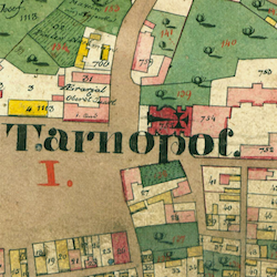 Tarnopol Center-North Cadastral Map 1829