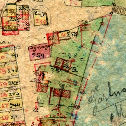 Tłuste Center Cadastral Map 1858