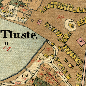Tłuste Center Cadastral Map (undated)