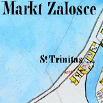 Załośce Town Center Cadastral Map 1850