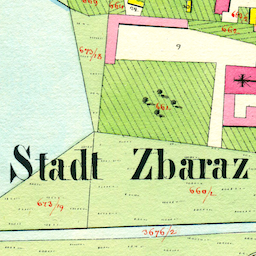 Zbaraż Center Cadastral Map 1830/1863