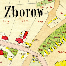 Zborów Center Cadastral Map 1830