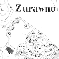 Żurawno Center Cadastral Map 1848