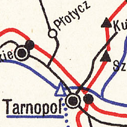 Telegraph and Telephone Network Map of the Eastern Austro-Hungarian Monarchy 1912