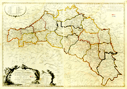 Losy de Losenau Map of Galician Kreise 1790