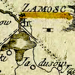 Losy de Losenau Map of Galician Kreise 1790 ca. 1828