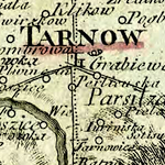 Losy de Losenau Map of Galician Kreise 1790: Tarnów & Rzeszów