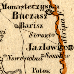 von Schlieben Map of Three Galician Kreise (Sambor, Stryj, Stanisławów) ca. 1828