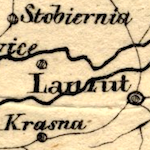 von Schlieben Map of Three Galician Kreise (Przemyśl, Rzeszów, Sanok) ca. 1828