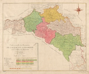 Tobias Conrad Lotter Map of Galicia and Lodomeria, ca. 1775