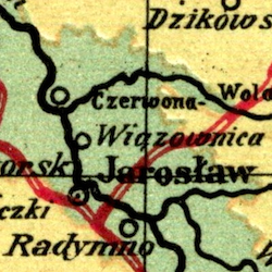 Stanisław Majerski Map of Galicia before 1918
