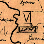 Military Districts Map of Interwar Poland 1921