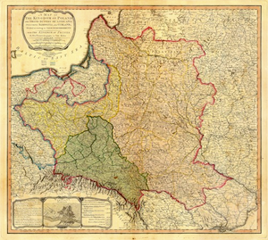 william faden map of the third partition of poland 1799