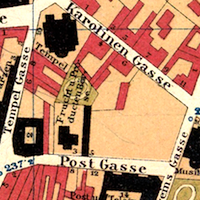 Czernowitz General Street Map ca. 1910