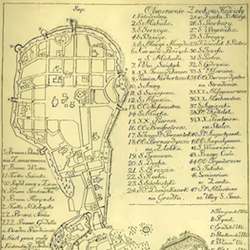 Kraków and Kazimierz General Map before 1813