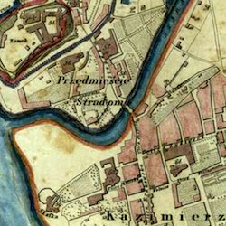 Kraków City and Suburb Map 1836