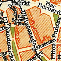 Hartleben's Travel Guide Map of Lemberg (Lwów) 1914
