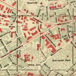 Lemberg (Lwów) General Street Map 1937