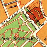 Lemberg (Lwów) General Street Map 1938