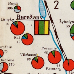 Eastern Galicia Ethnographic Map 1939