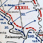 World War I Battle Lines in Galicia & Volhynia, Summer 1915