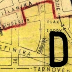Kraków Street Map Under Occupation ca. 1941