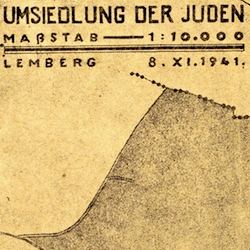 Lemberg (Lwów) Jewish Ghetto Map & Poster 1941