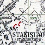 World War I Battle Lines around Stanisławów, September 1916